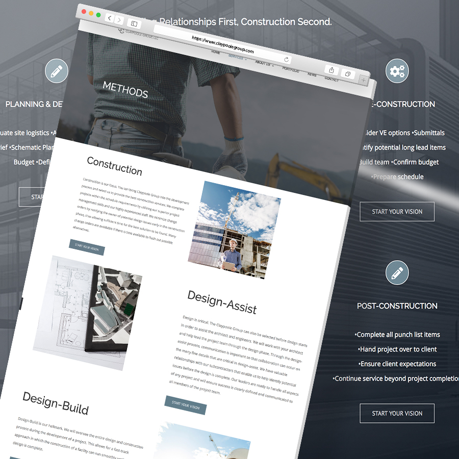 Claypoole Group Website Mockup Square Ratio